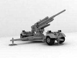 Flak 36-37 88mm Anti-aircraft Gun 3d preview