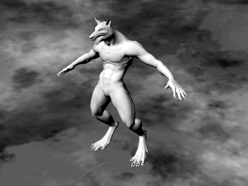 Male Werewolf 3d rendering