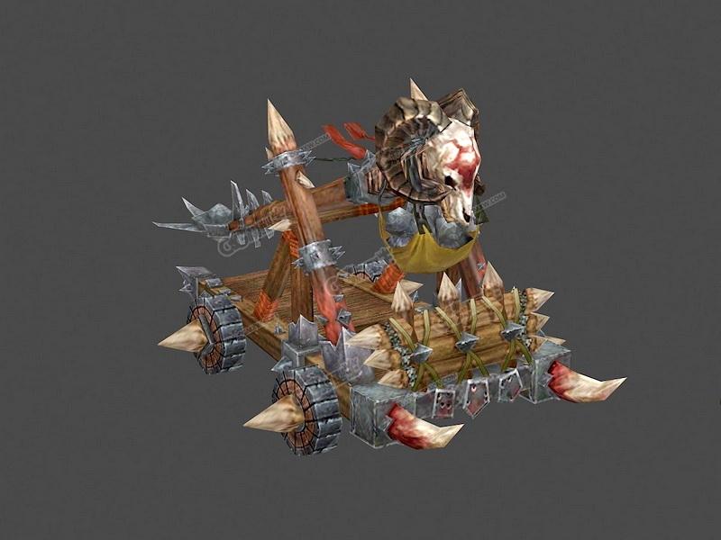 Orcs Battering Ram 3d rendering