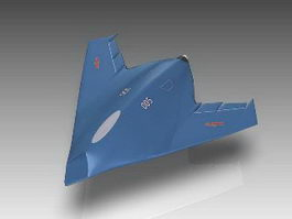 Chinese Flying Wing UAV 3d model preview