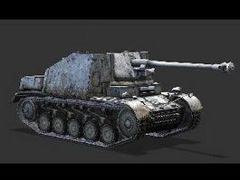 Marder II German Tank Destroyer 3d preview
