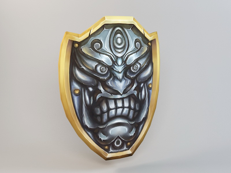 Demon Shield 3d rendering