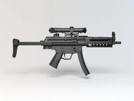 MP5 Submachine Gun 3d model preview