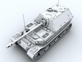 German Panzerjager Tiger Heavy Tank Destroyer 3d preview