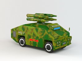 HQ-7 Anti-aircraft Missile 3d preview