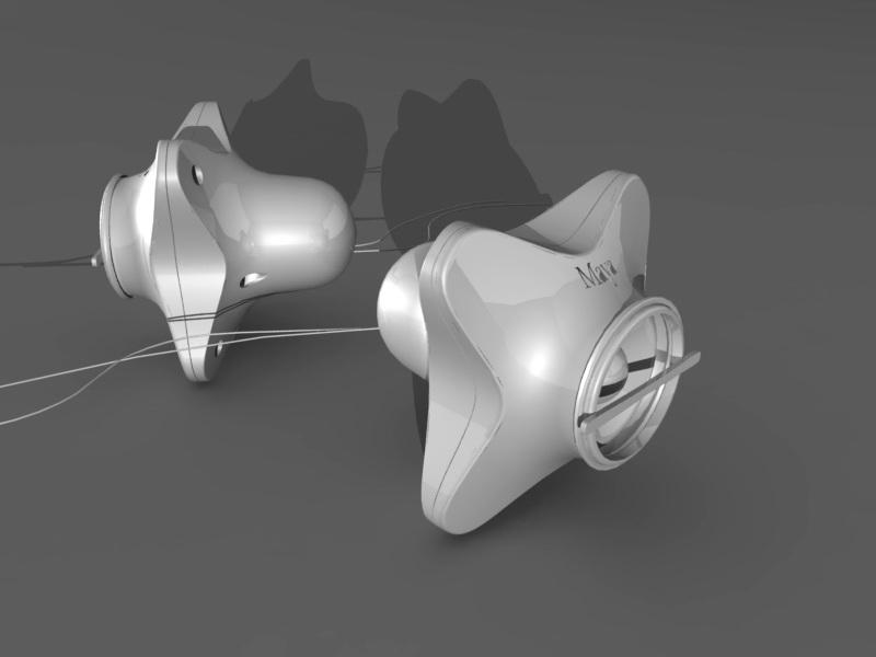 Mini Speakers 3d rendering