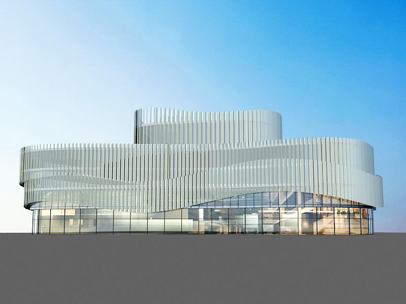 Modern Shopping Mall 3d rendering