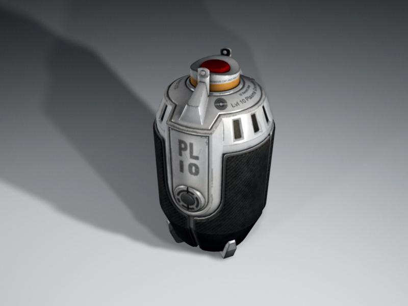 Future Grenade 3d rendering