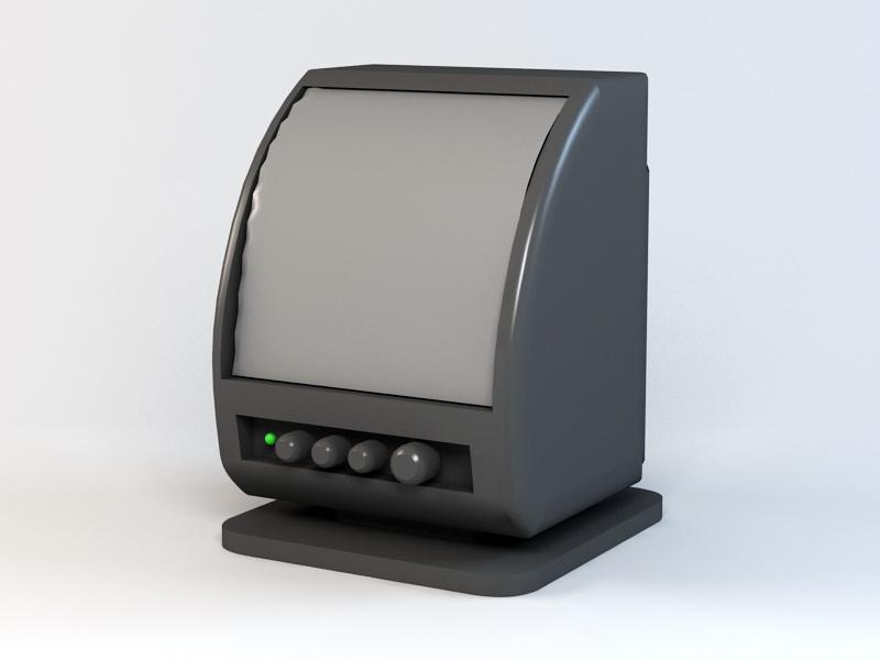 PC Speaker 3d rendering