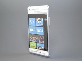 Samsung Windows Phone Smartphone 3d model preview