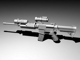 Assault Rifle with Scope 3d preview