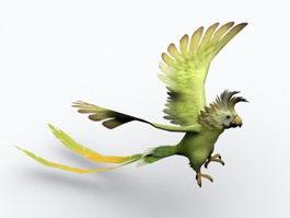 Orange-bellied Parrot 3d preview