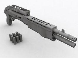 SPAS-12 Combat Shotgun 3d preview