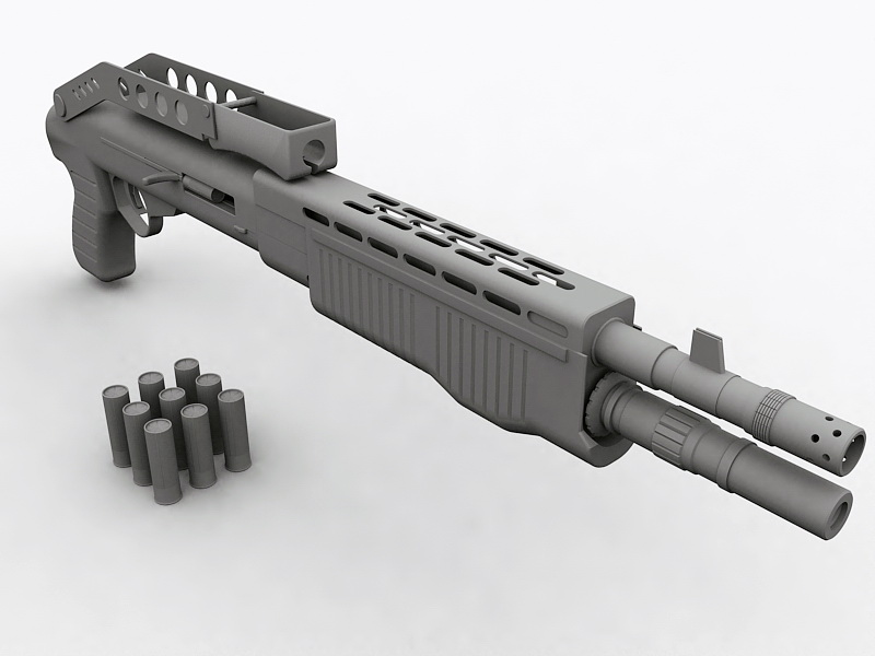 SPAS-12 Combat Shotgun 3d rendering