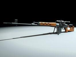 Sniper Gun 3d model preview