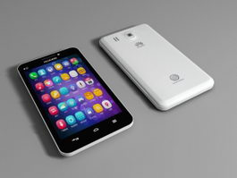 Huawei Android Phone 3d model preview