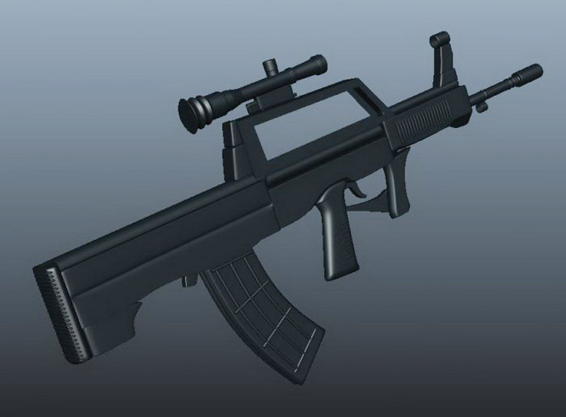 Steyr AUG A1 3d rendering