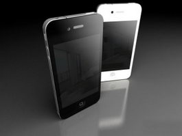 iPhone 4 Black and White 3d preview