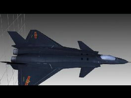 J-20 Chinese Fighter Aircraft 3d model preview