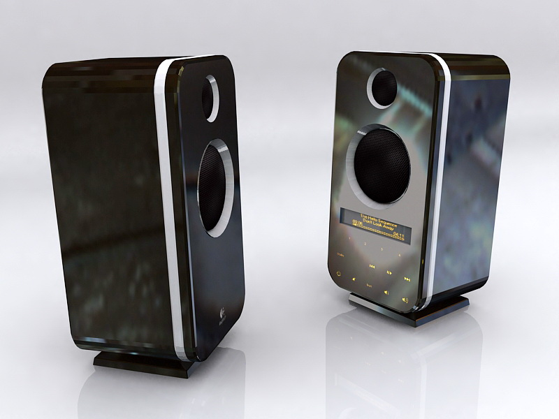 Logitech Z-10 Speakers 3d rendering