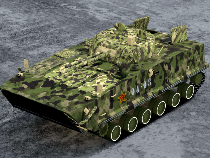ZBD-04 Chinese Infantry Fighting Vehicle 3d rendering