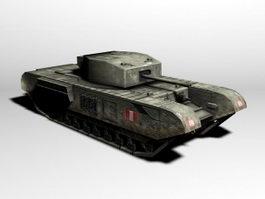 British Churchill Tank 3d preview