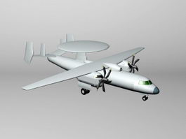 Y-7 AWACS 3d model preview