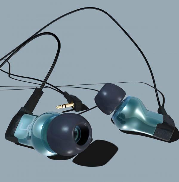 Ultimate Ears Triple.Fi 10 Pro Earphones 3d rendering