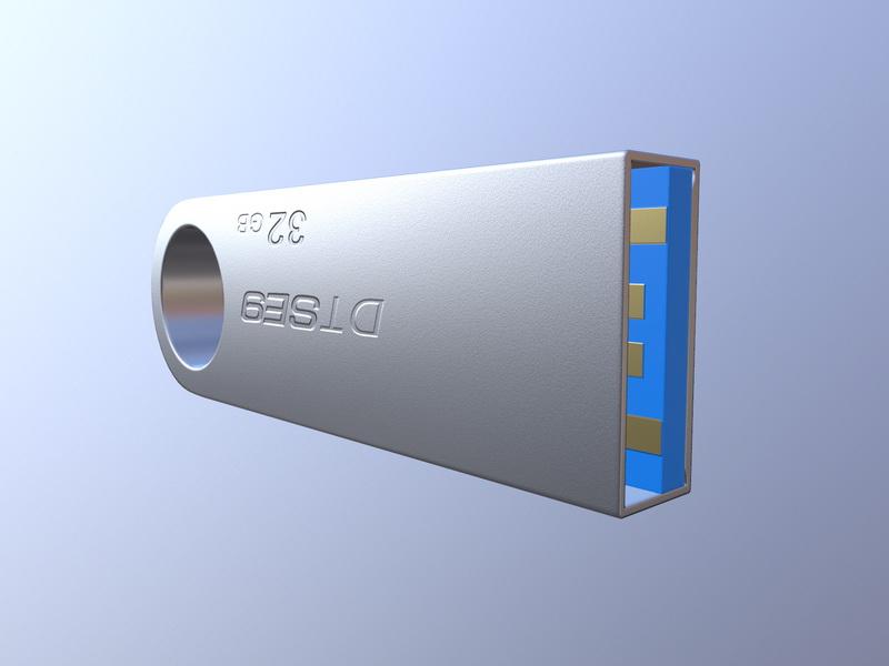 Kingston DT SE9H 32GB 3d rendering