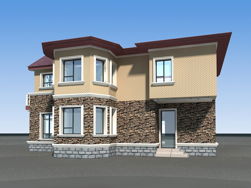 Country House Design 3d rendering