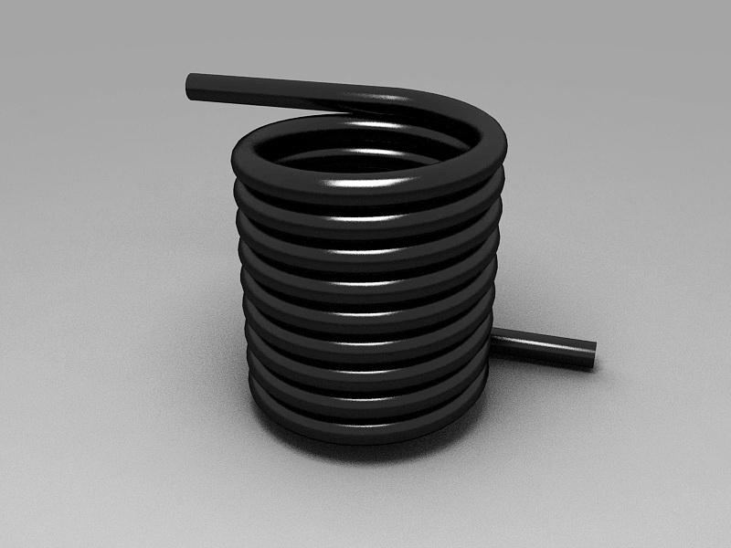 Torsion Spring 3d rendering