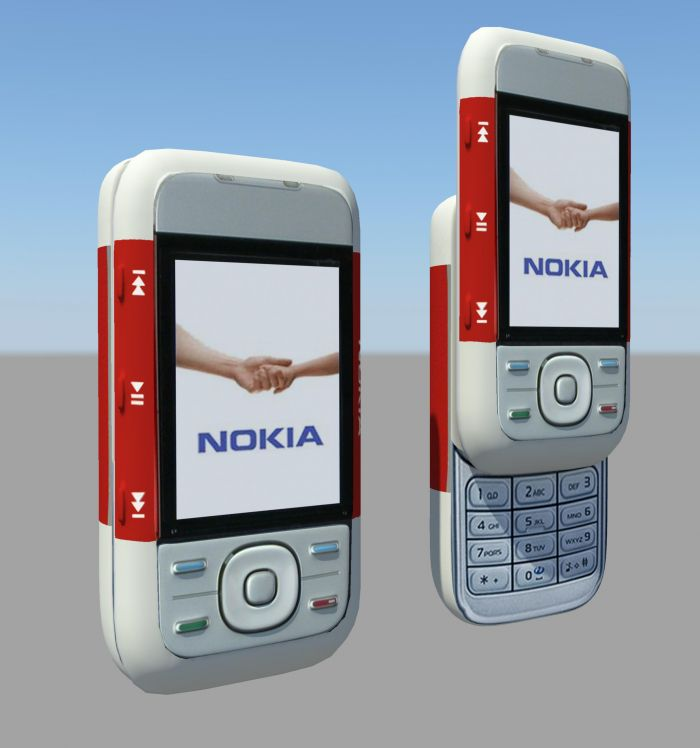 Nokia 5300 XpressMusic 3d rendering