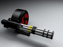 Machine Gun 3d model preview