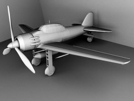 Old Airplane 3d model preview