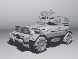 Modern Armoured Fighting Vehicle 3d preview