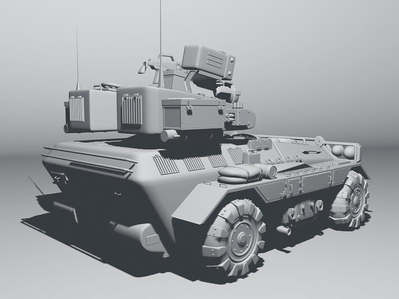 Modern Armoured Fighting Vehicle 3d rendering