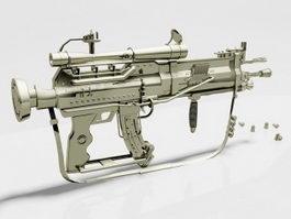 Steampunk Assault Rifle 3d preview