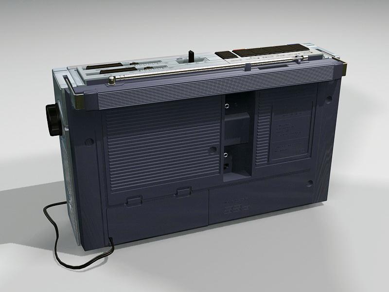 Cassette Tape Recorder Player 3d rendering