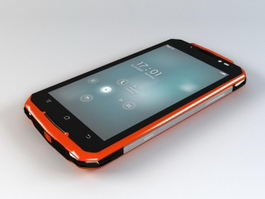 Red Smartphone 3d model preview