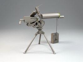M1919 Browning Machine Gun 3d model preview