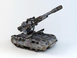 Sci-Fi Self-Propelled Artillery 3d model preview
