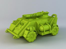 Military Wheeled Armored Vehicle 3d preview