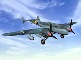 Nazi Germany Bf110 G-2 Heavy Fighter 3d model preview
