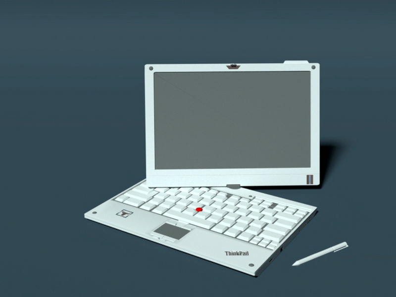 ThinkPad X201T 3d rendering