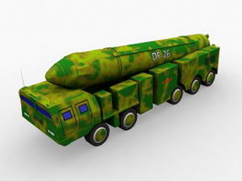 DF-26 Ballistic Missile 3d preview