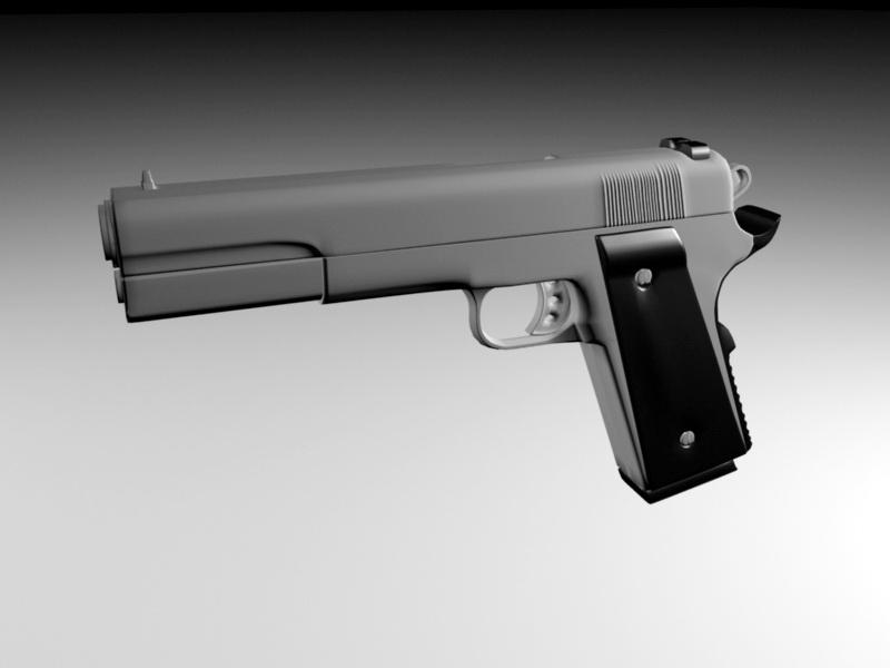 Desert Eagle Magnum 3d rendering
