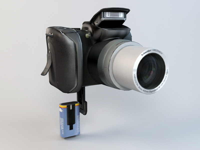 Kodak Z712 IS ZOOM Digital Camera 3d rendering