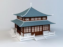 Korean Pagoda 3d preview