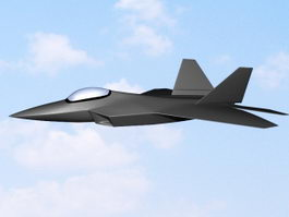 F-22 Fighter Aircraft 3d preview