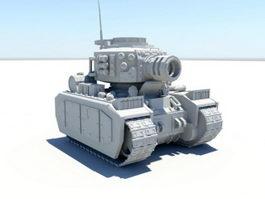 Cartoon Tank 3d preview